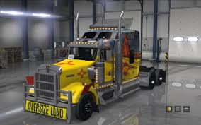 new truck kenworth skin new mexico kenworth w900 mod american truck simulator mod