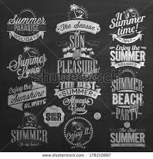 summer calligraphic designs on stock vector 289984256