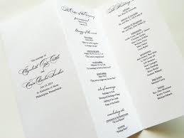 trifold wedding programs trifold programs carbon materialwitness co