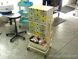 ikea raskog hack raskog cart hack craft room storage via ikea raskog utility cart