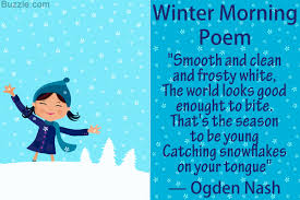 10 most poems about the winter season