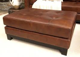 Large Tufted Leather Ottoman Large Leather Ottoman Coffee Table Living Ottoman Teal Ottoman
