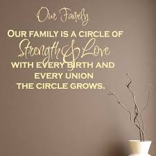 Strength Love Quotes by Our Family Is A Circle Of Strength And Love Quote Wall Sticker