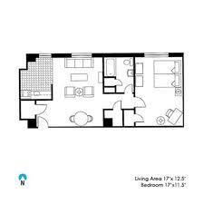 Floor Plan Standards Mcmanus One Bedroom Northwestern Student Affairs
