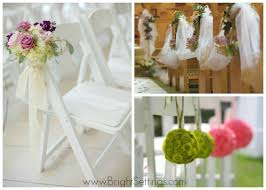 Chair Decorations Wedding Chair Decor The Bright Ideas Blog