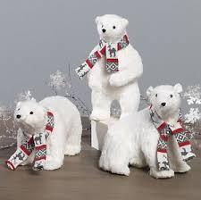 White Polar Bear Christmas Decorations by 3603475 Raz 11 5