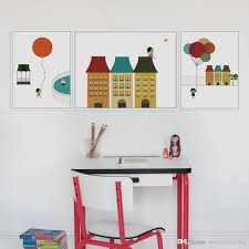 Home Art Decor by 2017 3 Panel Modern Minimalist Ballons Poster Print Dream