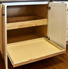 corner base cabinet ideas bottom roll out tray kitchen