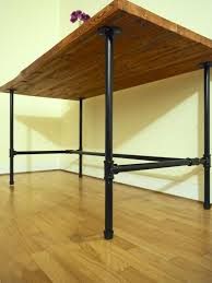 galvanized pipe table legs excellent wood desk with black pipe legs solid wood table butcher