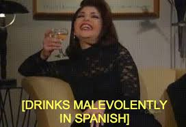 Soraya Montenegro Meme - drinks malevolently in spanish soraya montenegro know your meme