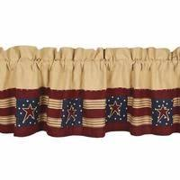 Primitive Country Kitchen Curtains by Primitive Curtains Valances Blackberry Vine Layered Valance