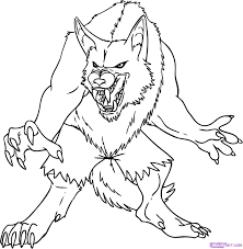 halloween werewolf coloring pages for kids werewolf coloring pages