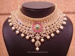 bridal choker necklace images Gold uncut diamond bridal choker necklace pinterest choker jpg