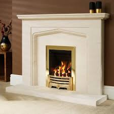 excellent white limestone fireplace ideas with stunning modern gas