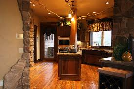 interior rustic home design with classic brown leather awesome