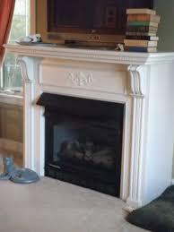 carved oak art nouveau antique fireplace mantel and integral cast