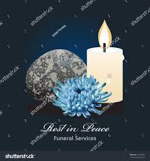 Funeral Invitation Card Template Funeral Ceremony Invitation Card Vector Template Stock Vector