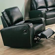 Black Leather Recliner Kingslee Rocker Recliner In Black Leather Recliners
