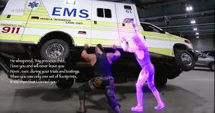 Ambulance Meme - how braun strowman really flipped that ambulance album on imgur
