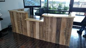 Wood Reception Desk Custom Made Rustic Reclaimed Wood And Live Edge Reception Desk By