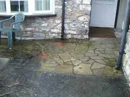 How To Clean A Concrete Patio by How To Clean A Patio Path That Is Slippery Due To Mould And Dirt