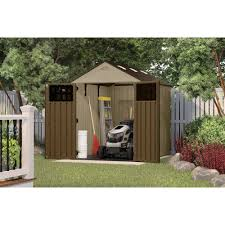 Lowes Outdoor Sheds by Decorating Fascinating Suncast Storage Shed For Modern Outdoor