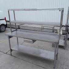 stainless steel table with shelves secondhand catering equipment stainless steel tables 1 01m to 2m