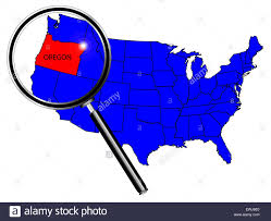 map of oregon united states oregon state outline set into a map of the united states of