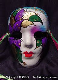 large mardi gras mask large mardi gras leaf painted new orleans ceramic mask