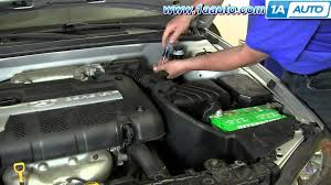 how to install replace mass air flow sensor 2001 06 hyundai