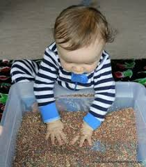 Toddler Sensory Table by Magic Puffing Snow Recipe Sensory Play Recipes Sensory Play And
