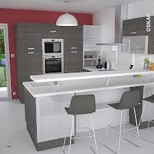 plan cuisine en u espace entre plan de travail et meuble haut unique hauteur et ur du