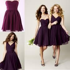 short purple bridesmaid dresses under 100 wedding short dresses