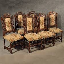 Jacobean Dining Room Set by Antique Oak Chairs Set 6 Kitchen Dining Quality Victorian Jacobean