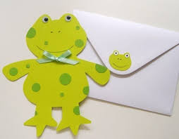 handmade frog birthday invitation thriftyfun