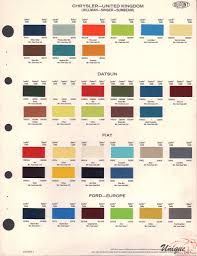 porsche mint green paint code datsun paint chart color reference