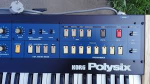 matrixsynth korg polysix synthesizer sn 389050 w custom wood case