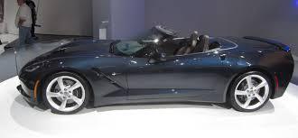 corvette c7 convertible file chevrolet corvette c7 convertible iaa2013 left side view img