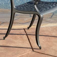 Cast Aluminum Outdoor Furniture Manufacturers Amazon Com Marietta 5pc Outdoor Cast Aluminum Dining Set Patio