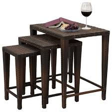 Patio Side Table Mayall Nested Outdoor Tables 3 Piece Set Contemporary Outdoor