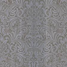 salon wavy damask wallpaper contemporary wallpaper by