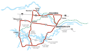 Columbia Missouri Map Missouri Tour 3 Lewis U0026 Clark Trail