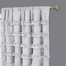 Gray And White Blackout Curtains Eclipse 13748050x084whi Ruffle Batiste 50 Inch By