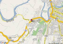 map of chattanooga tn map of ramada limited i 24 lookout mountain chattanooga tn