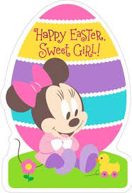 Minnie Mouse Easter Stickers Minnie Mouse Egg Shaped Easter Card For Greeting Cards