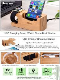amazon com tendak usb charging stand with 3 usb port 3 0 hub