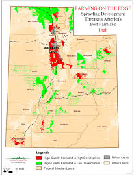 Utah Map Usa by Farming On The Edge State Maps American Farmland Trust