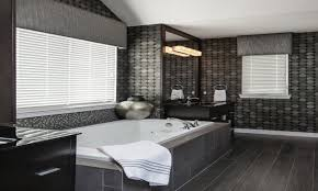 white wood tile bathroom completed elegant brown wood layered wall