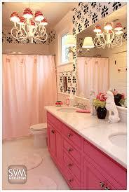 pink black girlie bath how i want my own bathroom