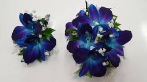 blue orchid corsage prom gallery yorba everblooming floral gift